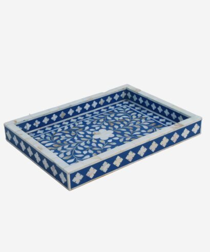 Mother Of Pearl Flower Design Tray