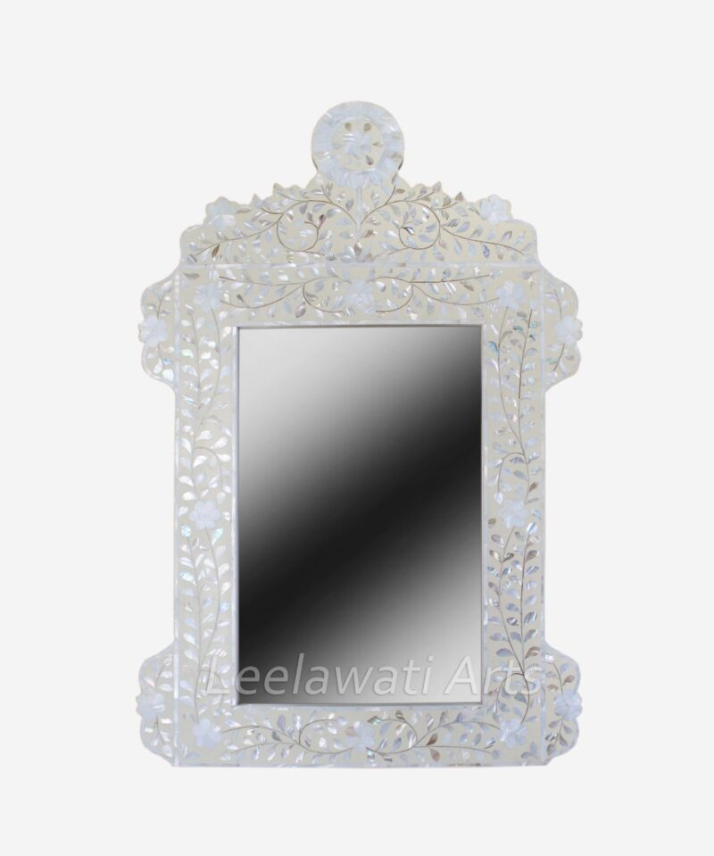 Mother of Pearl White Mirror Frame