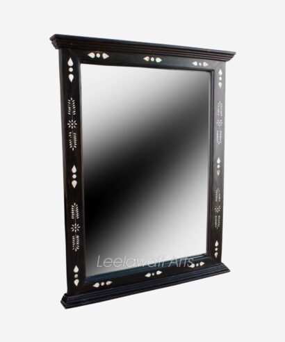 Mother of Pearl Inlay Black Mirror Frame