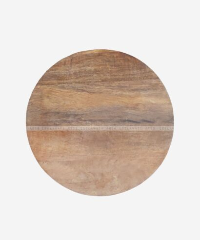 Bone Inlay Round Brown Table Top