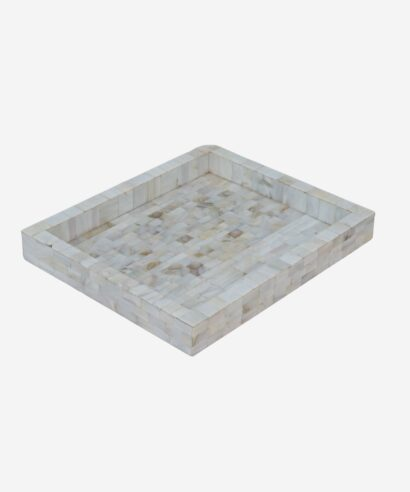 White Small mother of pearl Tray