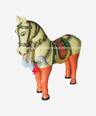 Wooden Hand Painted Horses