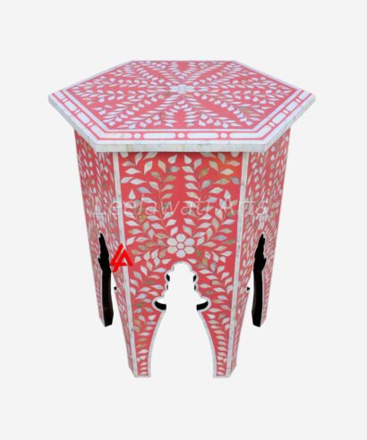 Mother of pearl Octangle Table