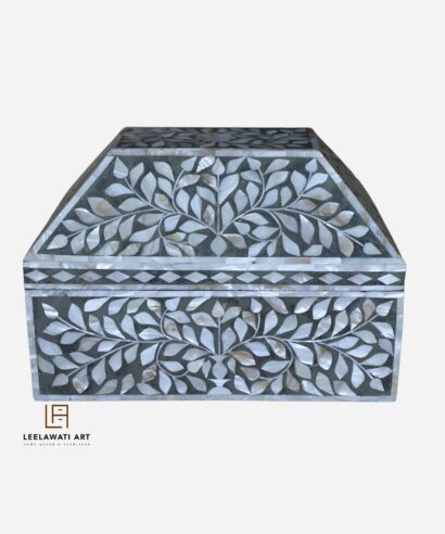 Wooden Mother Of Pearl Box